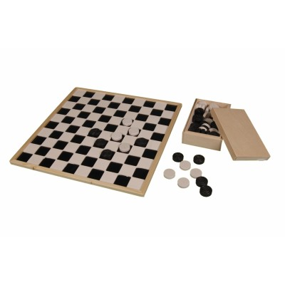 Aangepast houten dambord