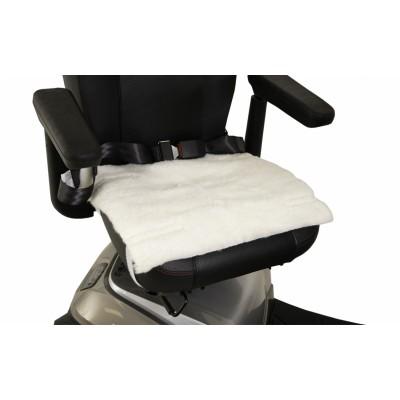 Schapenvacht voor rolstoelzitting