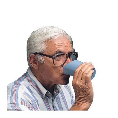Drinkbeker met neusuitsparing