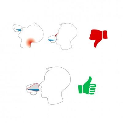 Conische beker met 2 handvatten