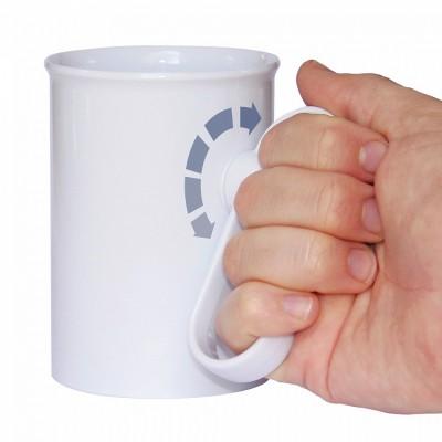 Aangepaste drinkbeker met draaibaar handvat
