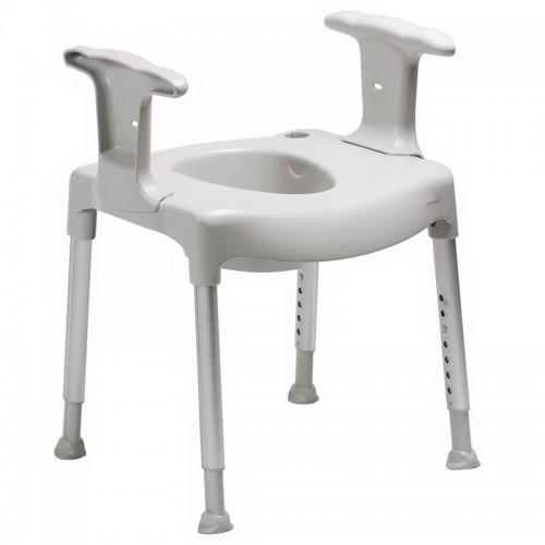 Vrijstaande toiletverhoger verstelbaar